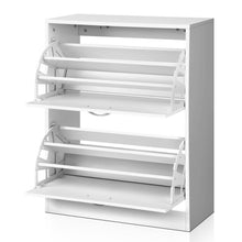 Load image into Gallery viewer, Artiss 2 Door Shoe Cabinet - White