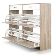 Load image into Gallery viewer, Artiss 2 Tier Shoe Cabinet - Wood