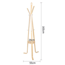 Load image into Gallery viewer, Artiss Wooden Coat Hanger Stand - Beige