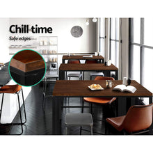 Load image into Gallery viewer, Artiss Vintage Industrial High Bar Table for Stool Kitchen Cafe Desk Dark Brown