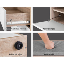 Load image into Gallery viewer, Artiss Shoe Cabinet Bench Shoes Storage Organiser Rack Fabric Seat Wooden Cupboard Up to 8 pairs