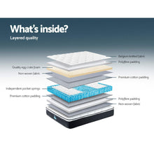 Load image into Gallery viewer, Giselle Bedding King Sigle Size Mattress Euro Top Bed Bonnell Spring Foam 21cm