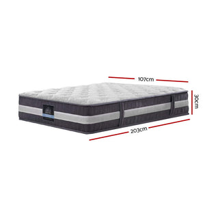 Giselle Bedding King Single Mattress Bed Size 7 Zone Pocket Spring Medium Firm Foam 30cm