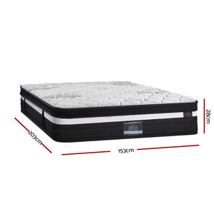 Giselle Bedding Super Firm Mattress Queen Size Bed 7 Zone Pocket Spring Foam 28cm