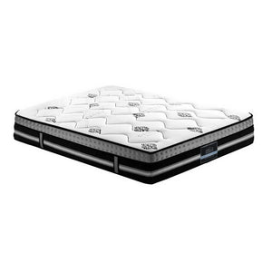 Giselle 35cm Queen Size Mattress Bed 7 Zone Pocket Spring Cool Gel Foam Medium Firm