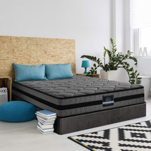 Load image into Gallery viewer, Giselle Bedding Queen Size Mattress Bed Medium Firm Foam Pocket Spring 22cm Grey