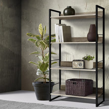 Load image into Gallery viewer, Artiss Book Shelf Display Shelves Corner Wall Wood Metal Stand Hollow Storage