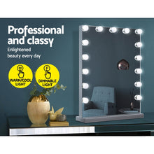 Load image into Gallery viewer, Embellir Hollywood Makeup Mirror With Light 15 LED Bulbs Lighted Frameless