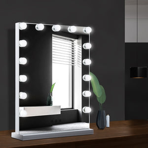 Embellir Hollywood Makeup Mirror With Light 15 LED Bulbs Lighted Frameless