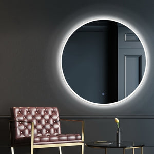 Embellir LED Wall Mirror Bathroom Mirrors With Light 90CM Decor Round Decorative