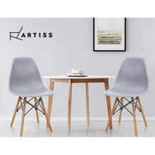 Load image into Gallery viewer, Artiss 4x Retro Replica Eames Dining DSW Chairs Kitchen Cafe Beech Wood Legs Grey