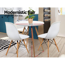 Load image into Gallery viewer, Artiss Replica Eames DSW Eiffel Dining Table Kithcen Cafe 4 Seater Timber Round White