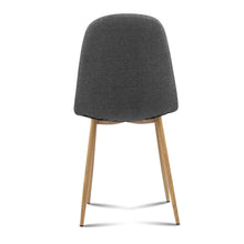 Load image into Gallery viewer, Artiss 4x Adamas Fabric Dining Chairs - Dark Grey