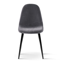 Load image into Gallery viewer, 4 X Artiss Dining Chairs Dark Grey