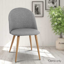 Load image into Gallery viewer, 2 X Artiss Dining Chairs Armchair Light Grey
