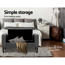 Load image into Gallery viewer, Artiss Fabric Storage Ottoman - Grey