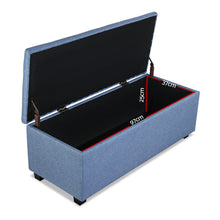 Load image into Gallery viewer, Premium Storage Ottoman - Blue