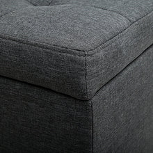 Load image into Gallery viewer, Premium Storage Ottoman - Charcoal