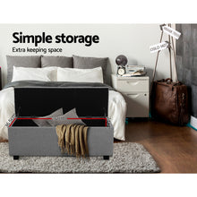 Load image into Gallery viewer, Artiss Large Fabric Storage Ottoman - Light Grey