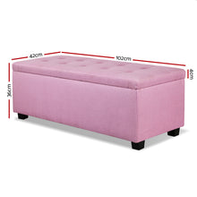 Load image into Gallery viewer, Premium Storage Ottoman - Pink