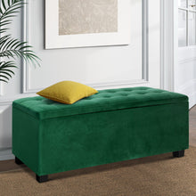 Load image into Gallery viewer, Artiss Storage Ottoman Blanket Box Velvet Foot Stool Rest Chest Couch Toy Green