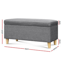 Load image into Gallery viewer, Artiss Kids Storage Ottoman - Grey