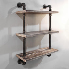 Load image into Gallery viewer, Artiss Industrial Shelves DIY Pipe Shelf Display Wall Floating Bookshelf Vintage 3 Tiers