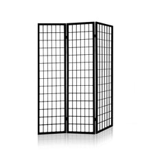 Load image into Gallery viewer, Artiss 3 Panel Wooden Room Divider - Black