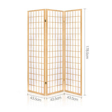 Load image into Gallery viewer, Artiss 3 Panel Wooden Room Divider - Natural