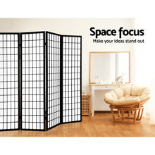 Load image into Gallery viewer, Artiss 8 Panel Room Divider Privacy Screen Dividers Stand Oriental Vintage Black