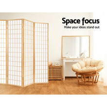 Load image into Gallery viewer, Artiss 8 Panel Room Divider Privacy Screen Dividers Stand Oriental Vintage Natural