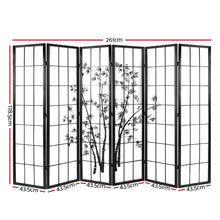 Load image into Gallery viewer, Artiss 6 Panel Room Divider Screen Privacy Dividers Pine Wood Stand Black White