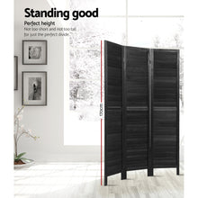 Load image into Gallery viewer, Artiss 3 Panel Room Divider Screen Privacy Wood Dividers Timber Stand Black