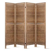 Load image into Gallery viewer, Artiss Room Divider Privacy Screen Foldable Partition Stand 4 Panel Brown