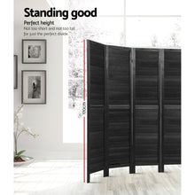 Load image into Gallery viewer, Artiss 6 Panel Room Divider Screen Privacy Wood Dividers Timber Stand Black