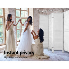 Load image into Gallery viewer, Artiss Room Divider Screen 8 Panel Privacy Wood Dividers Stand Bed Timber White