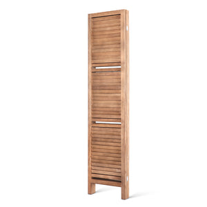 Artiss Room Divider Privacy Screen Foldable Partition Stand 4 Panel Brown