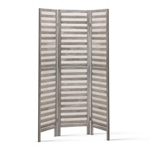 Load image into Gallery viewer, Artiss Room Divider Privacy Screen Foldable Partition Stand 3 Panel Grey