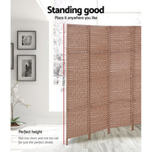 Load image into Gallery viewer, Artiss 4 Panel Room Divider Screen Privacy Rattan Timber Foldable Dividers Stand Hand Woven