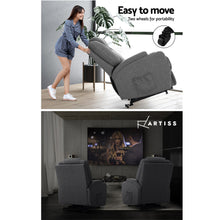 Load image into Gallery viewer, Artiss Electric Massage Chair Recliner Sofa Lift Motor Armchair Heating Fabric