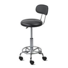 Load image into Gallery viewer, Artiss PU Leather Swivel Chair with Backrest - Black