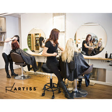 Load image into Gallery viewer, Artiss Round Salon Stool Stools Black Swivel Barber Hair Hydraulic Chairs Lift