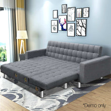 Load image into Gallery viewer, Artiss Modular Fabric Sofa Bed - Grey