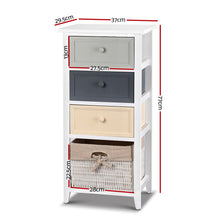 Load image into Gallery viewer, Artiss Bedroom Storage Cabinet - White