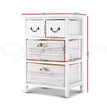 Load image into Gallery viewer, Artiss Storage Cabinet Dresser Chest of Drawers Bedside Table Bathroom Lamp Side