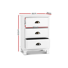 Load image into Gallery viewer, Artiss Vintage Bedside Table Chest Storage Cabinet Nightstand White