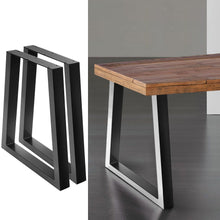 Load image into Gallery viewer, 2x Coffee Dining Table Legs Steel Industrial Vintage Bench Metal Trapezoid 710MM