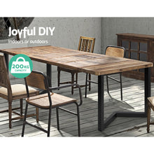 Load image into Gallery viewer, Artiss 2x Coffee Dining Table Legs 71x70CM Steel Industrial Vintage Bench Metal