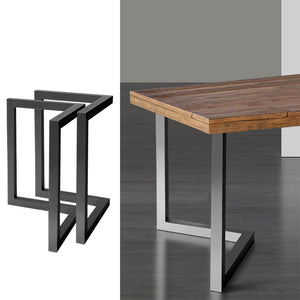 Artiss 2x Coffee Dining Table Legs 71x70CM Steel Industrial Vintage Bench Metal