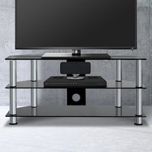 Load image into Gallery viewer, Artiss TV Stand Entertainment Unit Media Cabinet Temptered Glass 3 Tiers